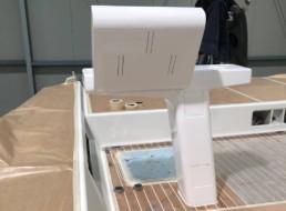 Consolle custom realizzata in materiali compositi; Italy custom composites; Officine TL Compositi