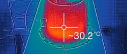 Bow esprit carbon infusion; carbon infusion; Maxi Jena bowsprit; Thermal view composite; Immagini termiche carbonio; immagini termiche materiali compositi