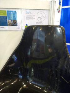 Sedile carbon clear realizzato da Officine TL compositi e Cardolite