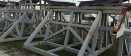 Invasi barche a vela, Selle barche a vela; Sailboat craddle; Yacht craddle; compositi Friuli Venezia Giulia