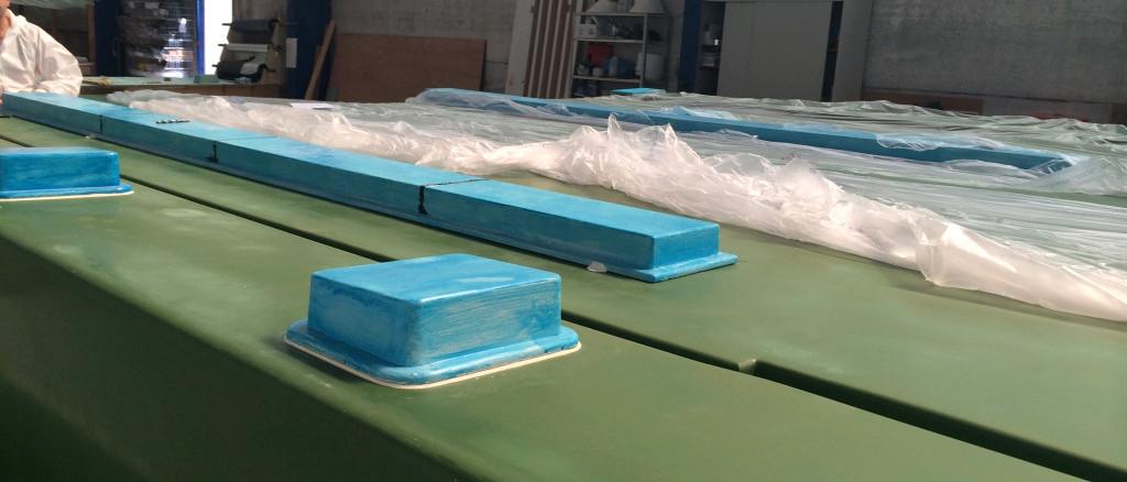 Officine TL Compositi; fibra di carbonio Friuli; compositi; compositi Italia; Stampo coperta; Deck mould; Deck mold; Stampo grp