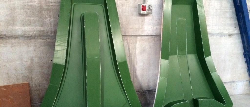 Officine TL Compositi; fibra di carbonio Friuli; compositi; compositi Italia; Bowsprit mould; Bowsprit mold; Stampo delfiniera; Stampo vetroresina; Stampo musone prua; Musone di prua; Stampo pulpito prua