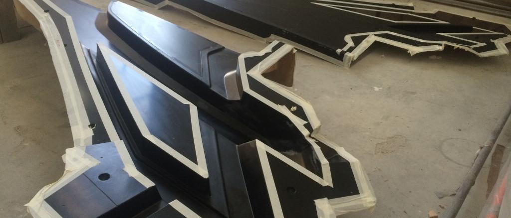 Officine TL Compositi; fibra di carbonio Friuli; compositi; compositi Italia; GRP mould; grp mold; stampo materiale composito; Supporto T-top; T-top support
