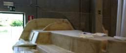 fibra di carbonio Friuli; Deck wet lay up; laminazione manuale coperta; laminazione tradizionale coperta; Deck lamination; Sailboat lamination