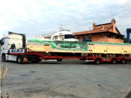 Deck transport; Boat transport; KLU-S transport; TL Compositi; trasferimento coperta; Marina Nautec