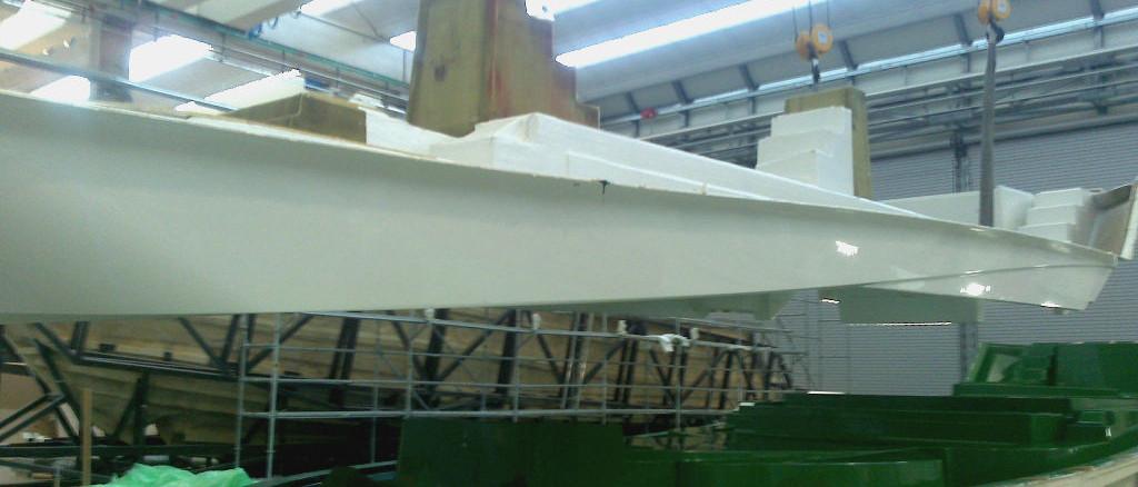 Deck demolding; deck demoulding; estrazione stampata; estrazione coperta; coperta motoscafo