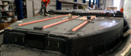 fibra di carbonio Friuli; Deck structures; strutture coperta; strutture coperta motoscafo; motor yacht deck structures