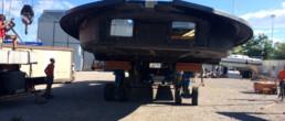fibra di carbonio Friuli; Carbon dock; carbon motor yacht;Movimentazione coperta motoscafo; motoscafo carbonio; prototipo motoscafo carbonio; Motor yacht carbon deck
