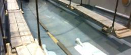 fibra di carbonio Friuli Venezia Giulia; Hull mould preparation, preparazione stampo scafo; infusion process; processo di infusione