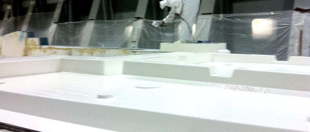 fibra di carbonio Friuli Venezia Giulia; Gelcoat application; applicazione gelcoat; fly bridge preparation; preparazione fly bridge; fly bridge motoryacht; fly bridge motoscafo; fly bridge infusion; infusione fly bridge